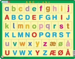 sm? og store bogstaver pusle 36 5x28 5cm her skal sm? og